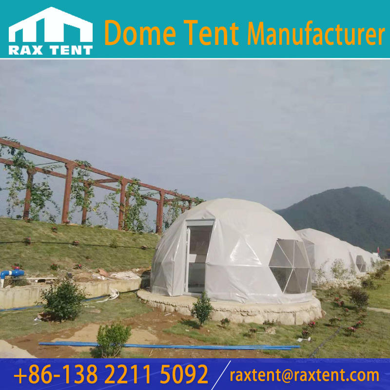 Cheap 5M Dome House with bedroom and bathroom for Glamping, Geodesic Domes for Hotel, Family Resort dome