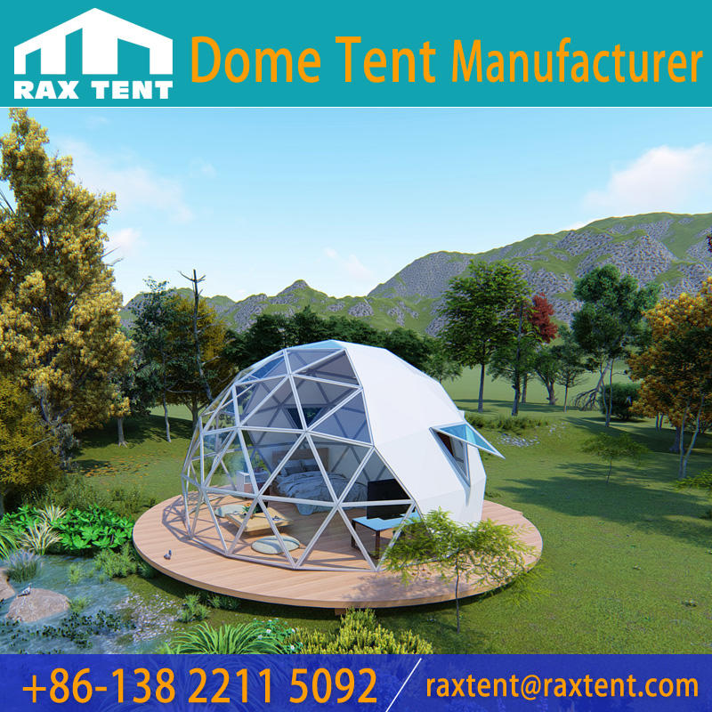 6m and 8m Dome Glass Igloo Glass Dome House Lightweight & Waterproof & Against Sun Light
