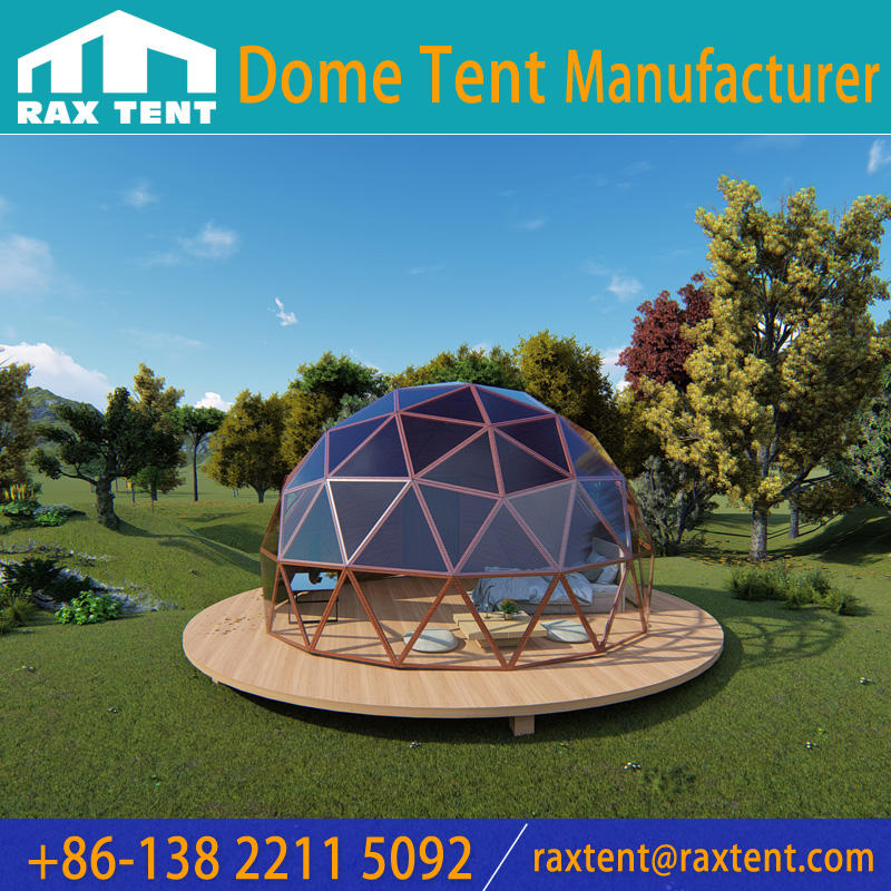 Glass Dome House Garden Igloo Hotel with Aluminum Structure and Tempered Glass Cover for Resort