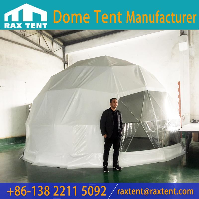 6M Geodesic Domes for Hotel and Glamping with Bathroom and Insulation