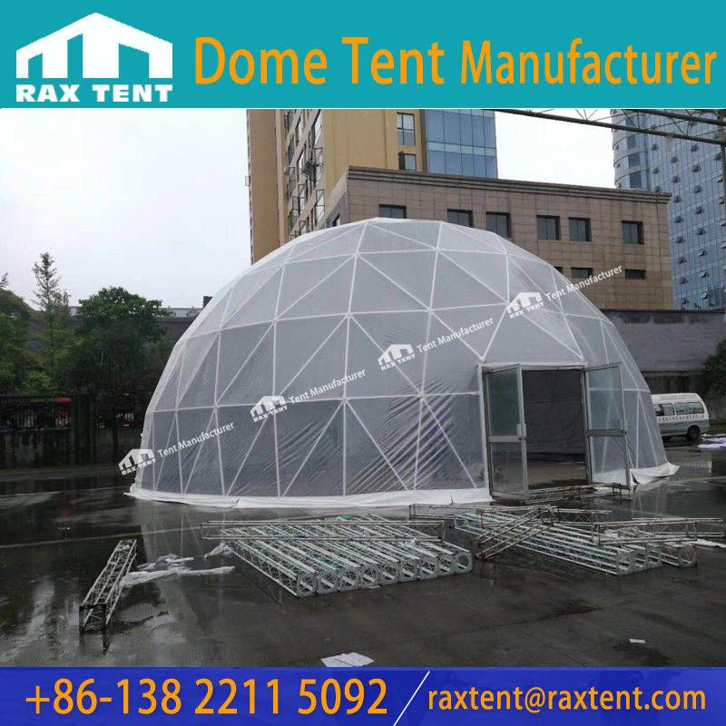 Cheap 20m/30m Large Geodesic Dome Tent with Stainless Steel Structure for Event, Party, Show, Restaurant