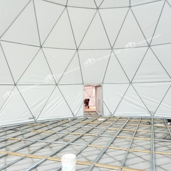 geodesic dome tent with floor system