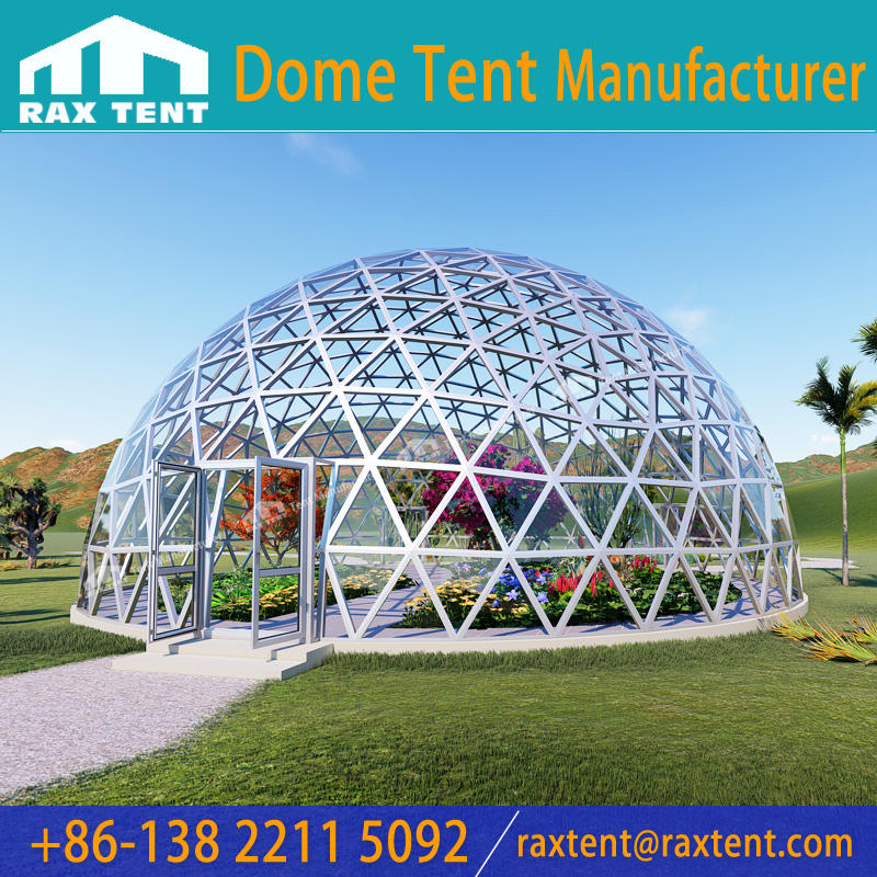Big Dome Geodesic Glass Dome Tent House with Aluminum Alloy Frame and Glass Cover for Greenhouse Event Sunroom at Factory Price