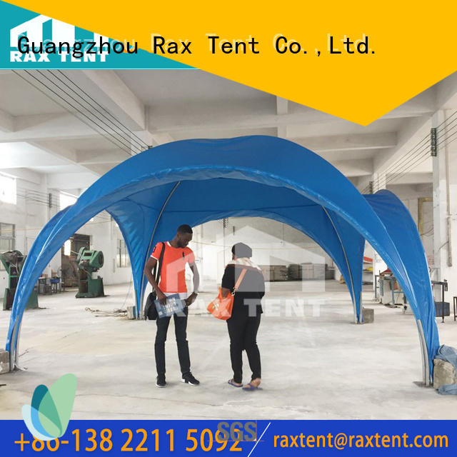 RAXTENT blue custom marquee OBM for event