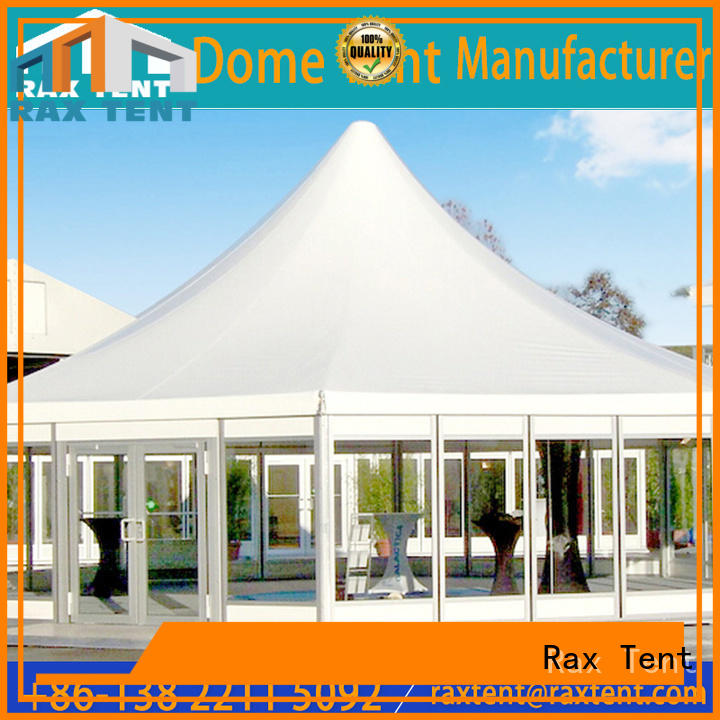 wooden windows round marquee tent at discount for concert RAXTENT
