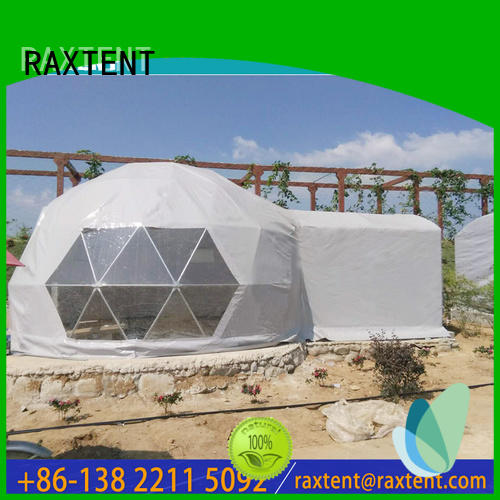RAXTENT Brand hotel glass dome hotel aluminum largest dome tent