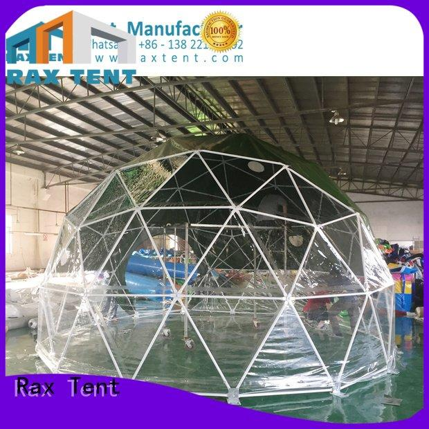 camping dome tents for sale 10m customized glass waterproof RAXTENT
