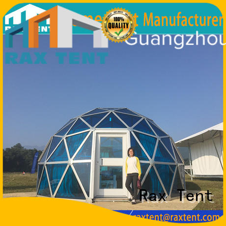 room aluminum glass dome house RAXTENT Brand largest dome tent manufacture
